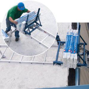 Pivoting Platform Hoist in use on construction site