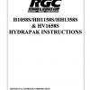 H1058S/HH1158S/HH1358S & HV1658S HYDRAPAK INSTRUCTIONS