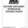 HE7558S 230V&460V HYDRAPAK INSTRUCTIONS