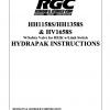 HH1158S/HH1358S & HV1658S W/Safety Valve for HS2K w/Limit Switch HYDRAPAK INSTRUCTIONS