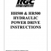 HH500 & HR500 HYDRAULIC POWER DRIVE INSTRUCTIONS