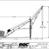 HS 2000 Bi-Directional Swing Hoist Dimensions