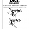 HS2000 HYDRAULIC LEFT OR RIGHT SWING HOIST INSTRUCTIONS W/UPPER LIMIT SWITCH