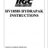 HV1858S HYDRAPAK INSTRUCTIONS