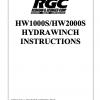 HW1000S/HW2000S HYDRAWINCH INSTRUCTIONS