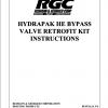 HYDRAPAK HE BYPASS VALVE RETROFIT KIT INSTRUCTIONS