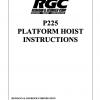 P225 PLATFORM HOIST INSTRUCTIONS