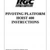 PIVOTING PLATFORM HOIST 400 INSTRUCTIONS