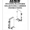 PIVOTING PLATFORM SOLAR PANEL CARRIER INSTRUCTIONS