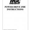 POWER DRIVE 250E INSTRUCTIONS