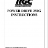 POWER DRIVE 250G INSTRUCTIONS