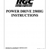 POWER DRIVE 250HG INSTRUCTIONS