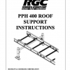 PPH 400 ROOF SUPPORT INSTRUCTIONS