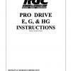 PRO DRIVE E, G, & HG INSTRUCTIONS