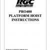 PRO400 PLATFORM HOIST INSTRUCTIONS