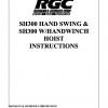 SH300 HAND SWING & SH300 W/HANDWINCH HOIST INSTRUCTIONS