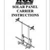 SOLAR PANEL CARRIER INSTRUCTIONS