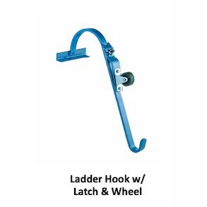 Ladder hook Latch and wheel roof options RGC Hoisting